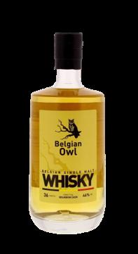 whisky belge Belgian Owl 36 mois Identité vieilli en fut de bourbon