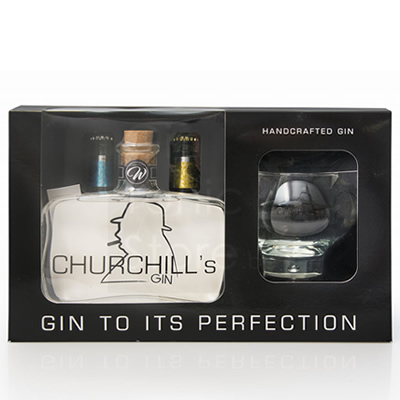 Coffret 1 verre Sir Chill (ex-Churchill's) Gin 50cl