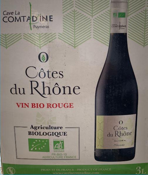 Cubi de 3L la Comtadine - Côtes du Rhône