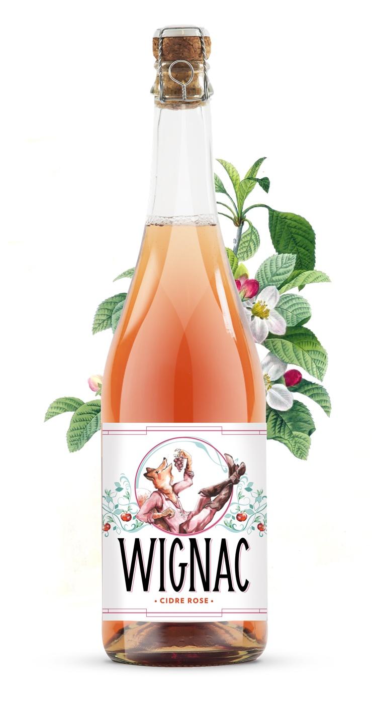 Cidre Wignac Rosé - Le Goupil - 75 cl