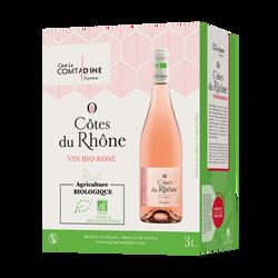 Cubi de 3L vin rosé bio La comtadine - Côtes du Rhône