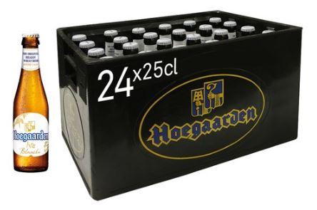 Casier Blanche de Hoegaarden 24x25cl 4,9%alc
