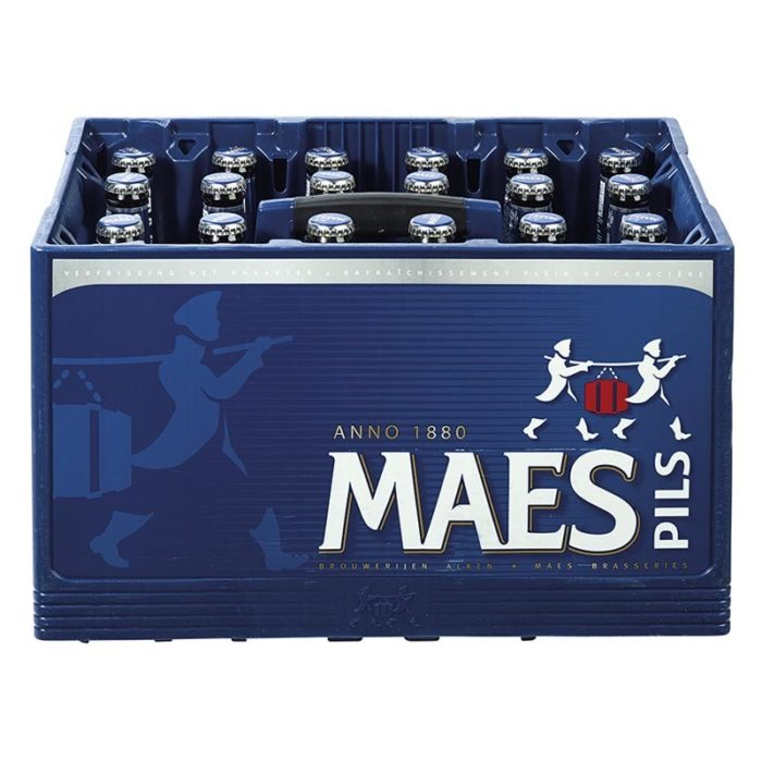 casier Maes Pils 24x25cl bouteilles consignées