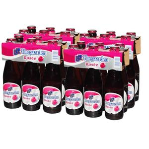 Casier hoegaarden Rosée 24x25 cl bouteilles consignées