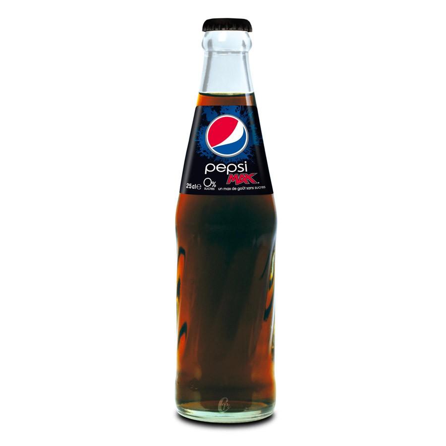 Casier Pepsi Max en bouteilles consignées 24x20cl