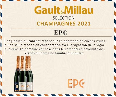 Une belle reconnaissance pour nos champagnes EPC !!