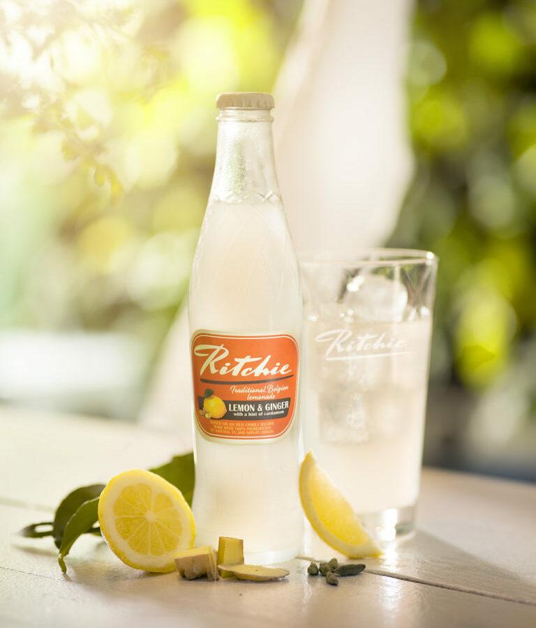 Ritchie lemon ginger boisson petillante belge au citron et gingembre avec une touche de cardamome